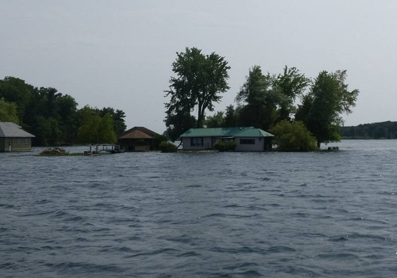 1000 Islands Cottage Flooded